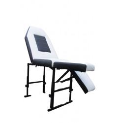 Кушетка дутая (белая с черным) (С)