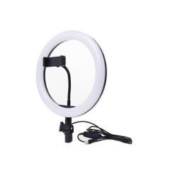 Кольцевая LED лампа AL-360 (1 крепл.тел) (пульт) 220V (36см)