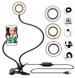 Держатель на прищепке с LED подсветкой Professional Live Stream