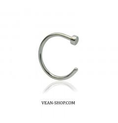 Кольцо в нос (медицинская сталь) (П)