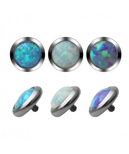 Накрутка на микродермал опал фиолетовый ( титан F136)